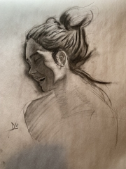 Portrait Sketch Smiling